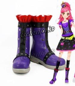 画像1: アイカツ! 音城セイラ風 さそり座ドレス コスプレ靴 ブーツ