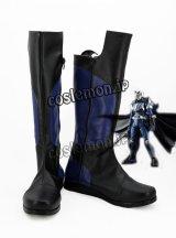 ヒーロー 秋山蓮風 闇の翼ダークウイング風 コスプレ靴 ブーツ