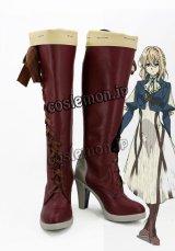 ヴァイオレット・エヴァーガーデン ヴァイオレット・エヴァーガーデン風 Violet Evergarden 03 コスプレ靴 ブーツ