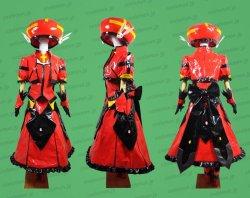 画像1: 魔法少女リリカルなのは Reflection 時空管理局武装隊 ヴィータ風 エナメル製 セット コスプレ衣装