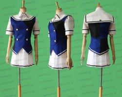 画像1: グリザイア:ファントムトリガー クリス 獅子ヶ谷桐花風 セーラー服 コスプレ衣装