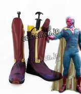 アベンジャーズ The Avengers ビジョン風 Vision コスプレ靴 ブーツ