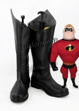 Mr.インクレディブル The Incredibles Mr.インクレディブル風 コスプレ靴 ブーツ
