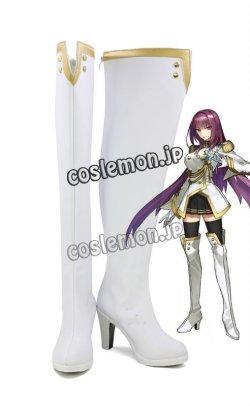 画像1: Fate/Extella Link フェイト/エクステラ リンク スカサハ風 ランサー 師匠 コスプレ靴 ブーツ