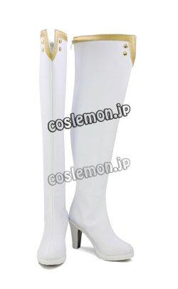画像2: Fate/Extella Link フェイト/エクステラ リンク スカサハ風 ランサー 師匠 コスプレ靴 ブーツ