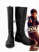 ハン・ソロ/スター・ウォーズ・ストーリー Solo: A Star Wars Story ハン・ソロ風 コスプレ靴 ブーツ