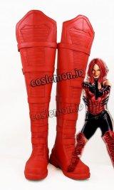キャプテン・アメリカ Captain America Vol 5風 コスプレ靴 ブーツ