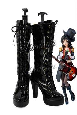 画像1: K-ON!けいおん! 秋山澪風 コスプレ靴 ブーツ