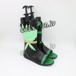 画像2: 陰陽師 おんみょうじ 蛍草風 コスプレ靴 ブーツ