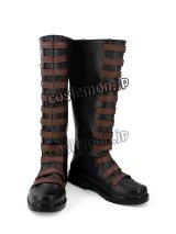 デッドプール Deadpool Domino 風 02 コスプレ靴 ブーツ
