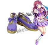 アイカツ!アイカツスターズ! 紫吹蘭風 コスプレ靴 ブーツ