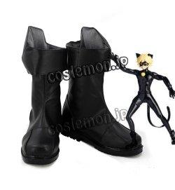 画像1: レディバグ Adrien Agreste/Cat Noir風 コスプレ靴 ブーツ