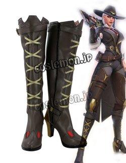 画像1: オーバーウォッチ Overwatch  Ashe風 02 コスプレ靴 ブーツ