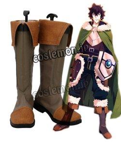 画像1: 盾の勇者の成り上がり 岩谷尚文風 コスプレ靴 ブーツ