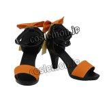 VOCALOID ボーカロイド ボカロ GUMI風 気まぐれメルシィ ダンス 巫女 風 コスプレ靴 ブーツ