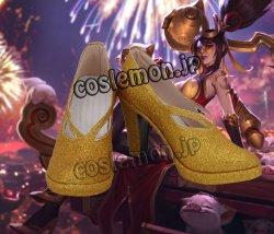 画像1: League of Legends LOL リーグ・オブ・レジェンズ ヴェイン風 コスプレ靴 ブーツ