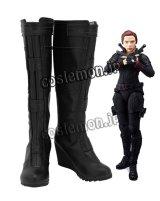 アベンジャーズ The Avengers シビル・ウォー キャプテン・アメリカ ブラック・ウィドウ風 04 コスプレ靴 ブーツ