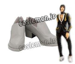 画像1: ジョジョの奇妙な冒険 黄金の風 ブローノ・ブチャラティ風 コスプレ靴 ブーツ
