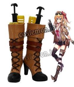 画像1: 少女前線 Girls Frontline M21風 コスプレ靴 ブーツ