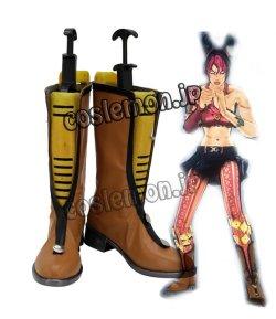 画像1: ジョジョの奇妙な冒険 ストーン・オーシャン 空条徐倫風 ●コスプレ靴 ブーツ