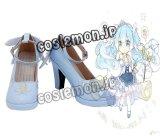 VOCALOID ボーカロイド 初音ミク 雪ミク風 ●コスプレ靴 ブーツ