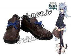 画像1: アズールレーン 花舞う季節の転校生 朝潮風 ●コスプレ靴 ブーツ