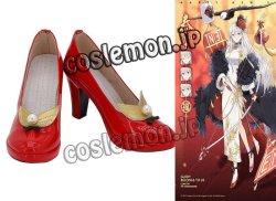 画像1: アズールレーン チャイナドレス風 ●コスプレ靴 ブーツ