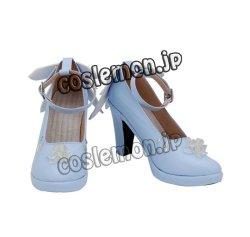 画像2: VOCALOID ボーカロイド 初音ミク 雪ミク風 ●コスプレ靴 ブーツ
