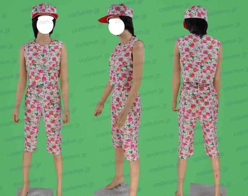 画像1 AAA 宇野実彩子風 花柄 かわいい ○コスプレ衣装